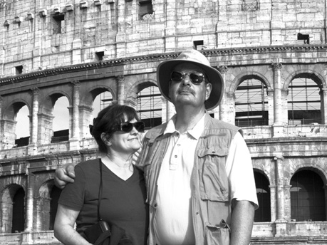 John and Vicki soak up the Coliseum